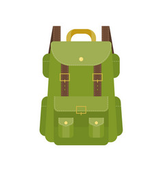 green camping backpack vector image