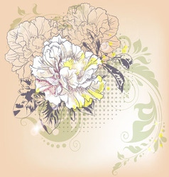 hand drawn of a single flower vector image vector image