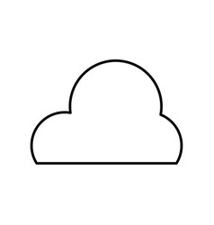 line cute natural cloud weather in the sky vector image vector image