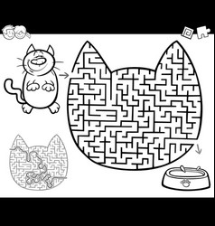 maze or labyrinth activity vector image vector image