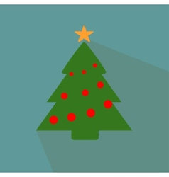 Nice Christmas tree on the blue background vector image vector image