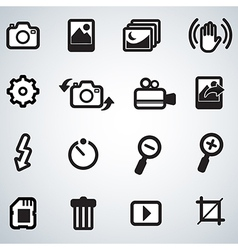 Photo and camera icons vector