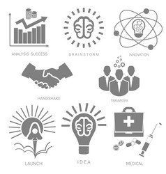 set icons for infographics vector image vector image