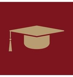 The graduation cap icon Education symbol vector image vector image