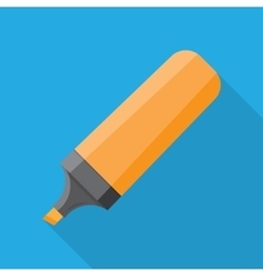 The Marker icon Flat vector image vector image