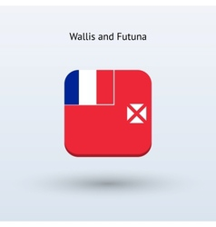 Wallis and futuna flag icon vector