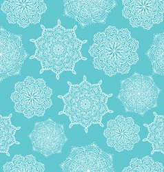 white lace snowflake ornament vector image vector image