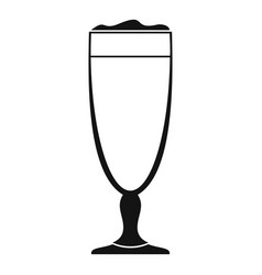 wine glass icon simple style vector image vector image