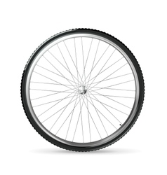 Bicycle wheel vector image
