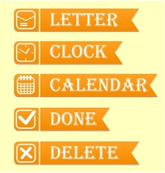 Banners with office icons set vector image