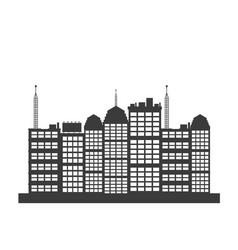 Pictogrma building skyscraper downtown design vector