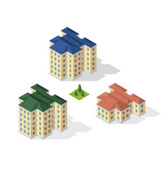 isometric 3d dimensional building of modern vector image