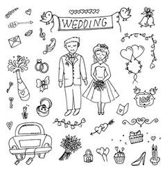 Groom wedding doodle vector
