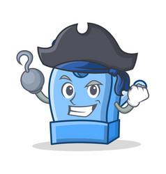 pirate pencil sharpener character cartoon vector image