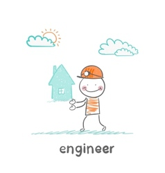 engineer keeps the house vector image