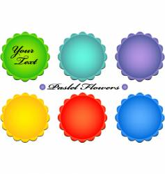 Pastel flower buttons vector