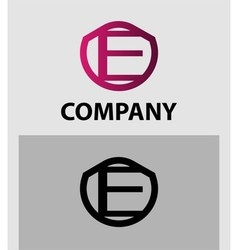 Corporate logo e letter company design vector
