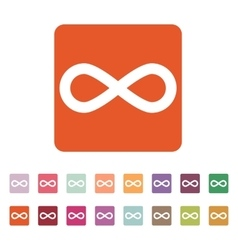 The infinity icon infinity symbol flat vector