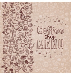 Hand drawn coffee background vector