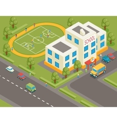 Isometric school or university building 3d vector