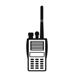 Military radio simple icon vector