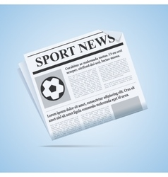 Sport news newspaper vector