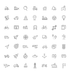 Outline web icons set - navigation vector