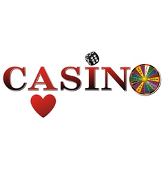 Casino sign white fort vector