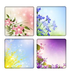 Flowers backgrounds vector