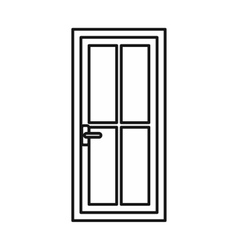 Glass door icon outline style vector