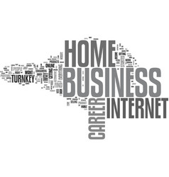 a home business career work from home text word vector image