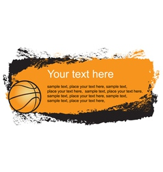basketball frame vector image vector image