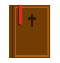 Bible icon isolated vector