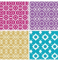 Colorful abstract lineart geometric seamless vector image vector image