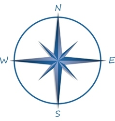 Compass rose on white background vector