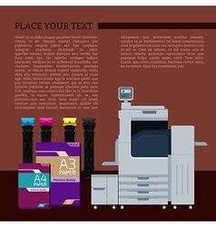 Digital print text template vector image