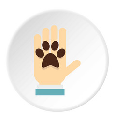 Donations for pets icon circle vector
