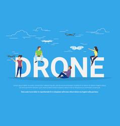 drone concept vector image