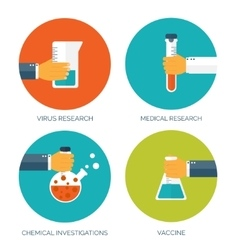 Flat medical background with vector