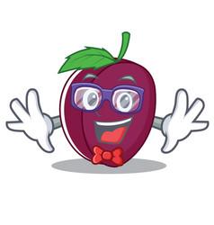 geek plum character cartoon style vector image