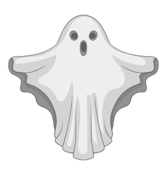 Ghost icon gray monochrome style vector image