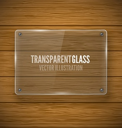 Glass framework and wood texture vector image vector image