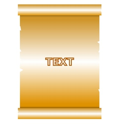 gold manuscript vector image vector image