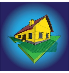 House Diagram vector image vector image