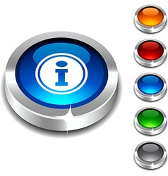 Info 3d button vector