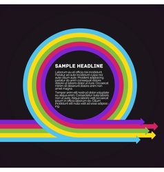 Infographics template colorful circle arrows vector
