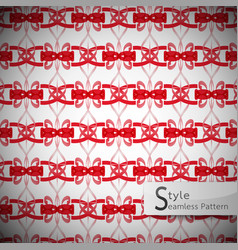 lattice striped bow ribbon red vintage geometric vector image
