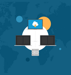 network database administration flat style vector image