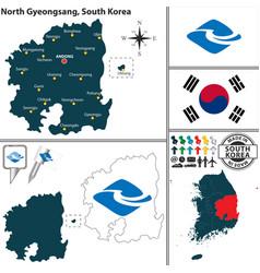north gyeongsang province south korea vector image vector image