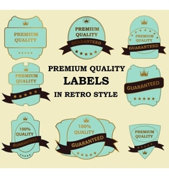 Quality Labels in retro vintage design vector image
